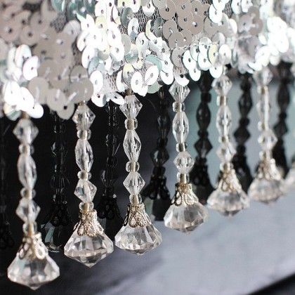 Silver Sequin Table Runner