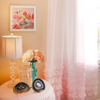 Ruffle Sheer Curtain Set