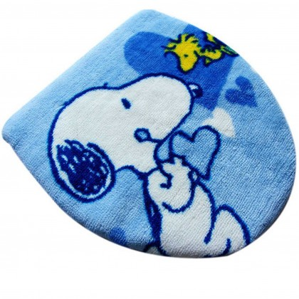 Peanuts Snoopy Blue Toilet Seat Lid Cover