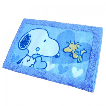 Peanuts Snoopy Blue Toilet Bath Floor Mat