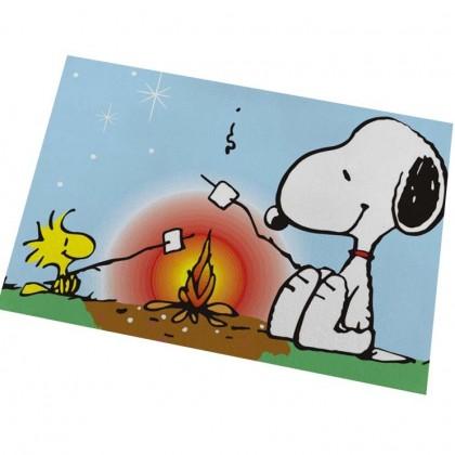 Peanuts Snoopy Campfire Marshmallow Beach Floor Mat