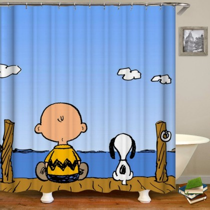 Snoopy Peanuts Gang Shower Curtain