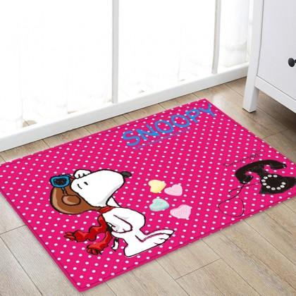 Peanuts Snoopy Polka Dots Floor Mat