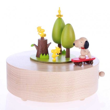 Snoopy on Skateboard Music Box