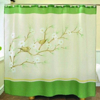 Spring Sparrows Shower Curtain