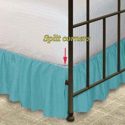 Split Corners Bed Skirt