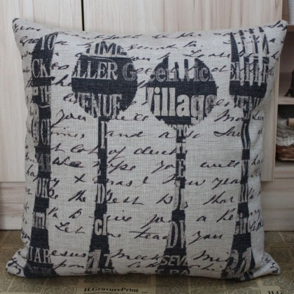 Utensils Cushion Cover