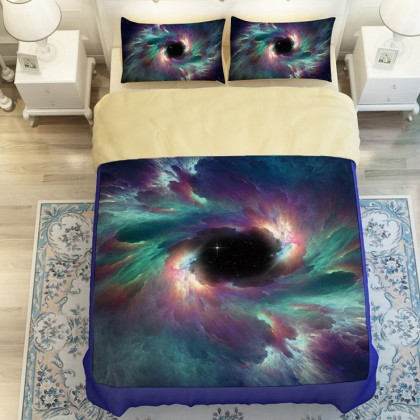 Mystery Nebula Star Galaxy Duvet Cover Set
