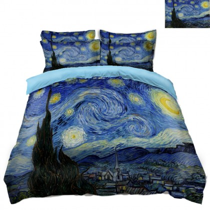 Van Gogh Starry Night Scenery Duvet Covet Set