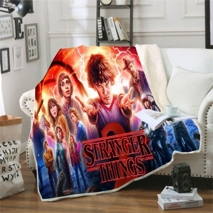 Stranger Things Throw Blanket B