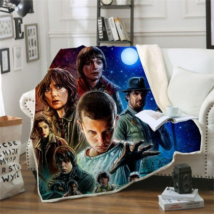 Stranger Things Throw Blanket C