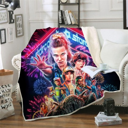 Stranger Things Throw Blanket A