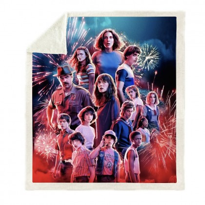 Stranger Things Throw Blanket E