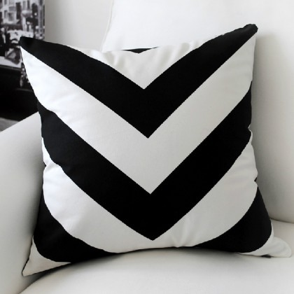 Zig Zag Stripe Cushion Cover