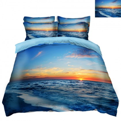Sun & Ocean Scenery Duvet Covet Set