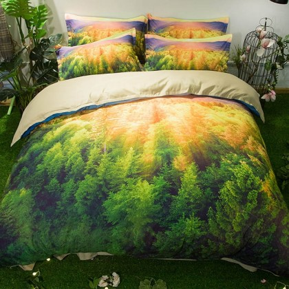 Sunlight Forest Duvet Cover Set