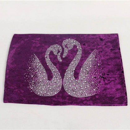 Luxury Velvet Swan Table Placemat
