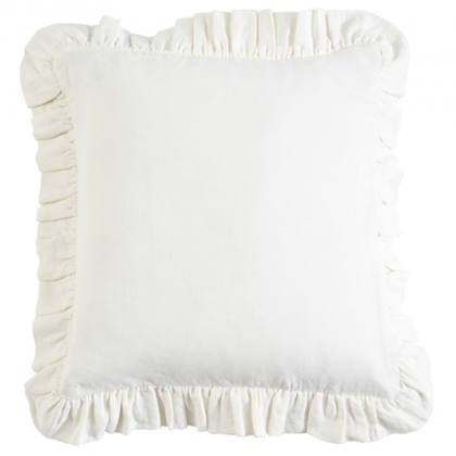 Ruffle Linen Pillow Sham