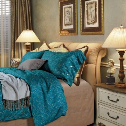 Teal Elegant Egyptian Cotton Duvet Cover
