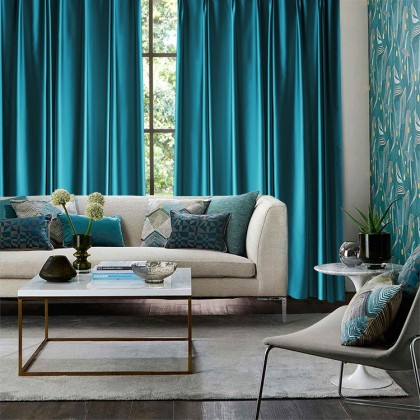 Teal Curtain (1 Pair)