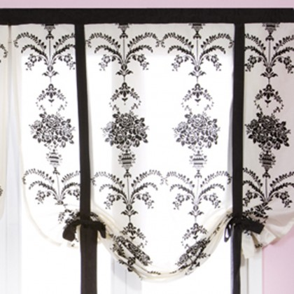 Damask Tie Up Balloon Curtain