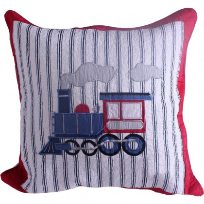 Train Quilt Cushion Cover