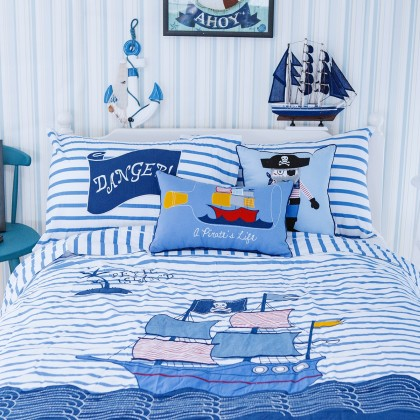 Pirate Ship Duvet Cover Set