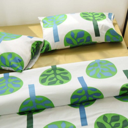 Green Tree Duvet Cover Set