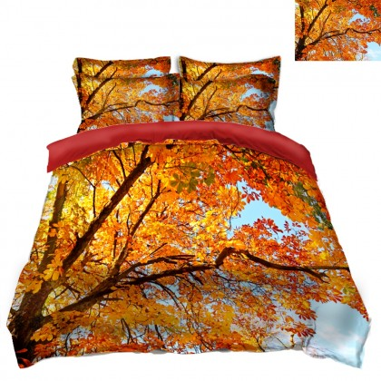 Fall Scenery Duvet Covet Set- C
