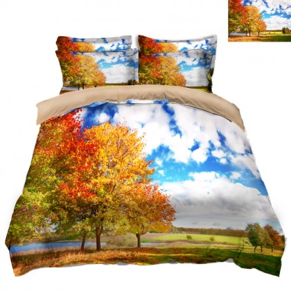 Fall Scenery Duvet Covet Set- B