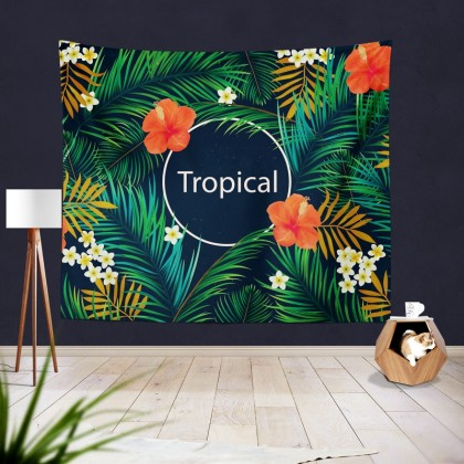Green Tropical Summer Tapestry