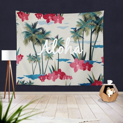 Tropical Aloha Tapestry