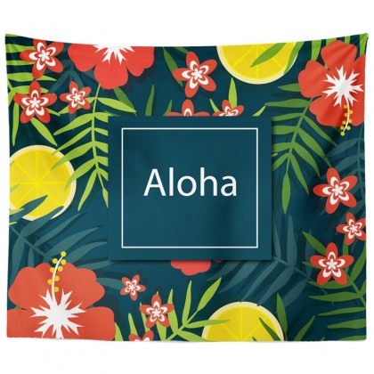 Aloha Summer Tropical Tapestry