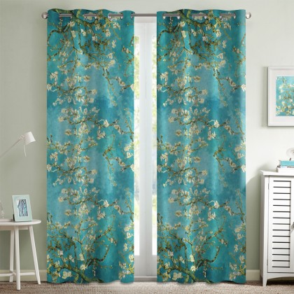 Van Gogh Full Almond Blossom Curtain Set