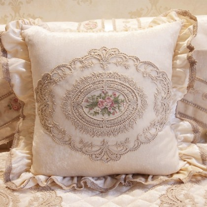 Luxury Victorian Decorative Square Pillow