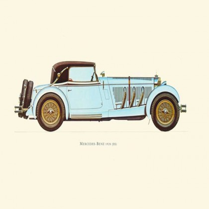 Vintage Car Canvas Print, Set of 10