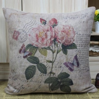 Vintage Garden Cushion Cover