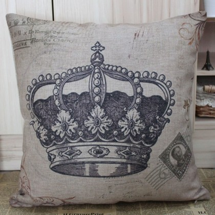 Royal Crown Cushion Cover