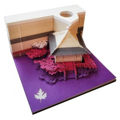 Japanese Vintage Village Pavilion 3D Paper Art Memo Pad