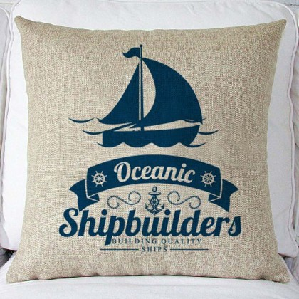 Oceanic Shipbuilders Cushion Cover