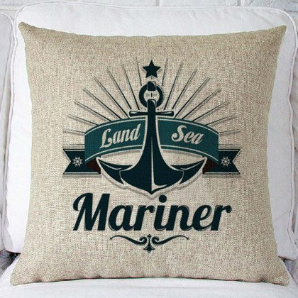 Land Sea Mariner Cushion Cover