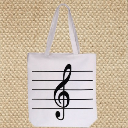 White Treble Clef Music Bag
