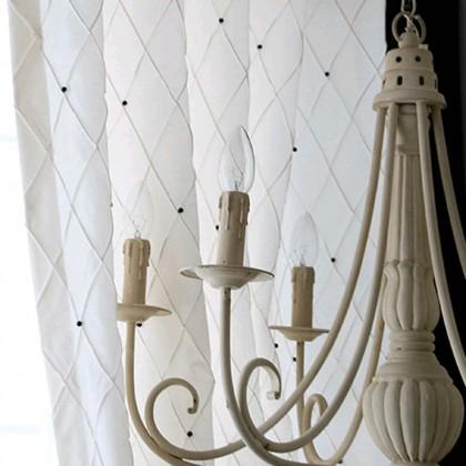 Luxury White Pleat Curtain Panel