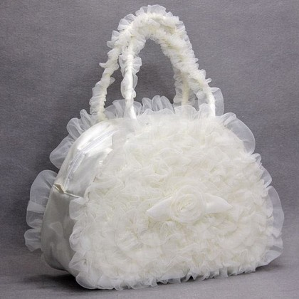 White Ruffled Bag