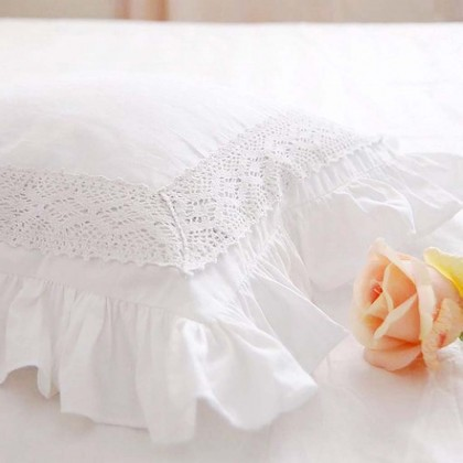 Elegant White Pillow Sham