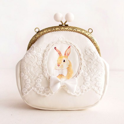 White Rabbit Lace Bag Purse