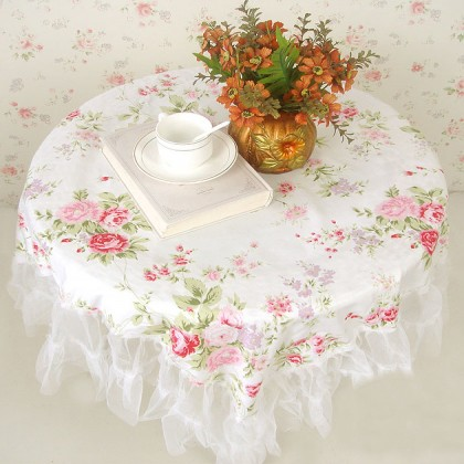 White Romance Tablecloth