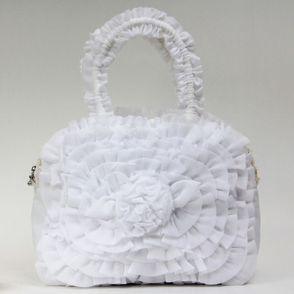 White Ruffled Bag A