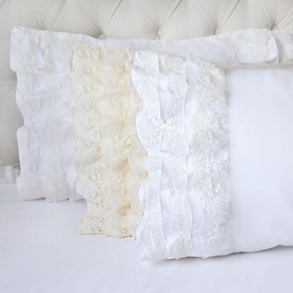 Lace Whisper Ruffle Pillow Sham