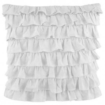 Clara Ruffled Sham, White